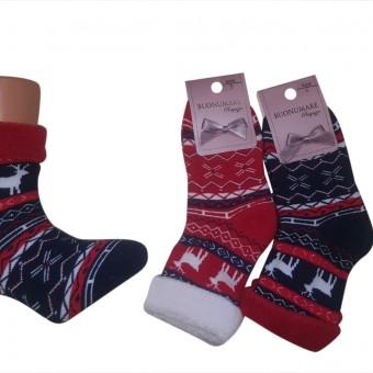 Geyik Desenli Kışlık Çocuk Çorabı