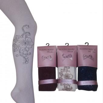 Taş Asortili Çocuk Külotlu Çorap