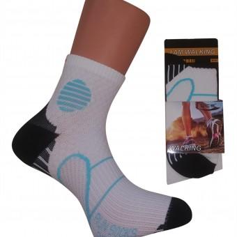 Mavi Desenli Yürüyüş Bayan Çorap