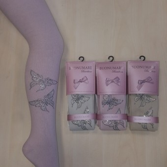 2 tane taş kelebek desenli çocuk külotlu çorap