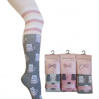 Çemberli kedi desen kız çocuk külotlu çorap