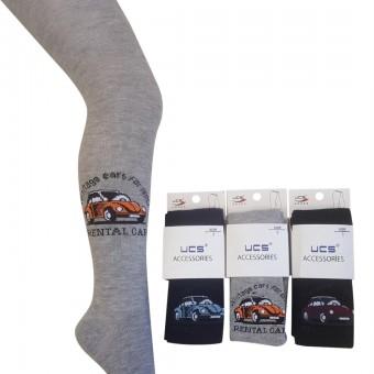 Rental car desen erkek çocuk külotlu çorap