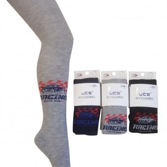 Yarış arabası desen erkek çocuk külotlu çorap