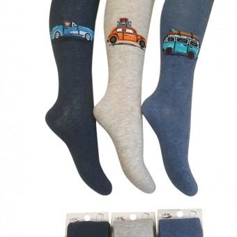 Arabayla seyahat desen erkek çocuk külotlu çorap