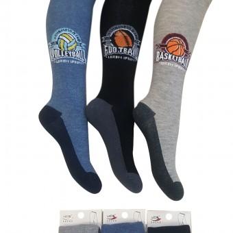 Sporcu desen erkek çocuk külotlu çorap