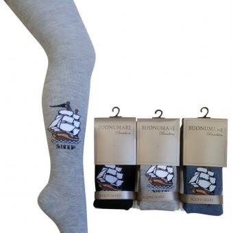 Yelkenli desen erkek çocuk külotlu çorap