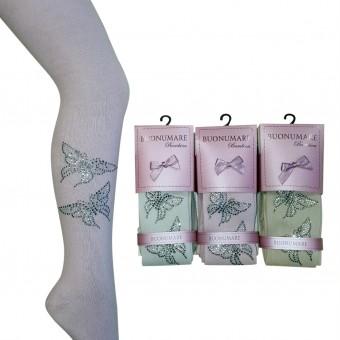 Uçan kelebek desen taşlı kız çocuk külotlu çorap