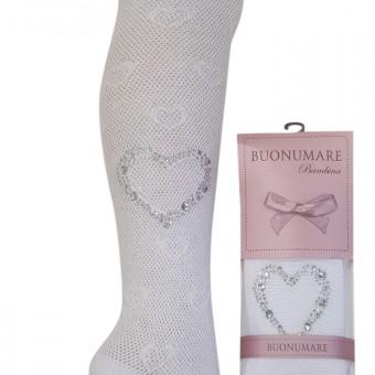 Taşlı kalp desen yazlık kız çocuk külotlu çorap