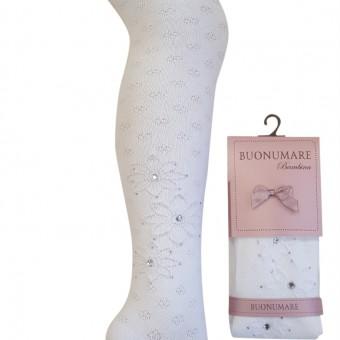Taşlı çiçek desen kız çocuk külotlu çorap