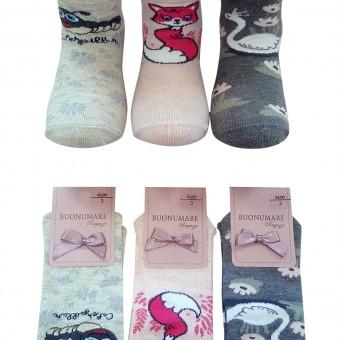 Tilki ördek desen çocuk yazlık çorap