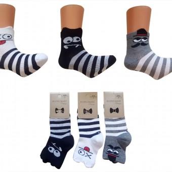 3D göz desen çocuk pamuk çorap