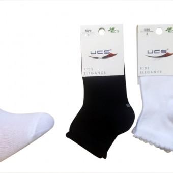 Pigotlu kız çocuk pamuk çorap