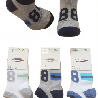 88 desen erkek çocuk sport patik çorap