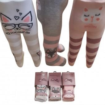 Kedi miyav desen bebek külotlu çorap