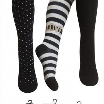 Love desen kız çocuk pamuklu külotlu çorap