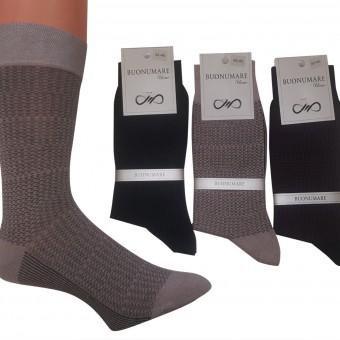 Kendinden jakarlı erkek pamuk çorap