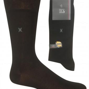 Küçük çarpı desen erkek modal çorap