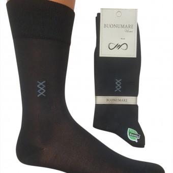İki renk zigzag desen erkek bambu çorap