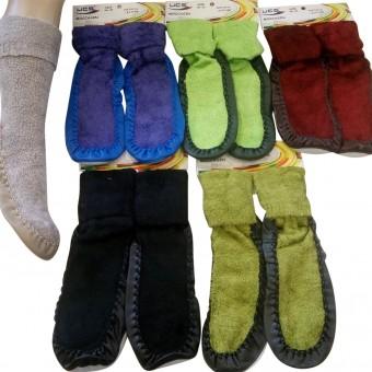Deri tabanlı bayan çarık çorap
