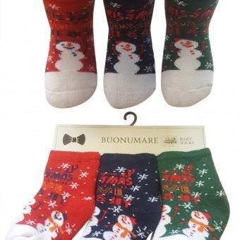 Yeni yıl desen bebek kışlık çorap