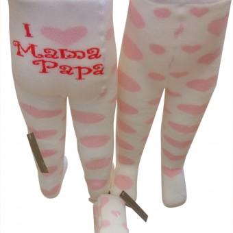 I love mom desen çocuk kışlık külotlu çorap