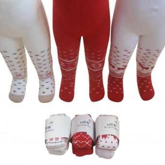 Geyik desenli bebek kışlık külotlu çorap