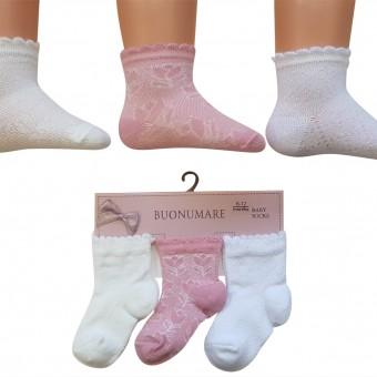 Lale desenli yazlık bebek çorap