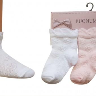 Çiçek desen bebek üçlü pamuk çorap